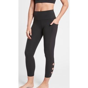 Athleta Black Cutout Leggings Size Medium
